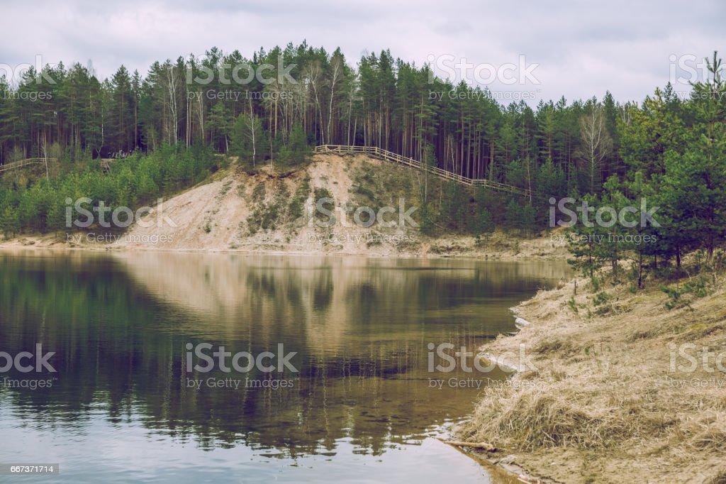 Spring come in Latvia. stock photo
