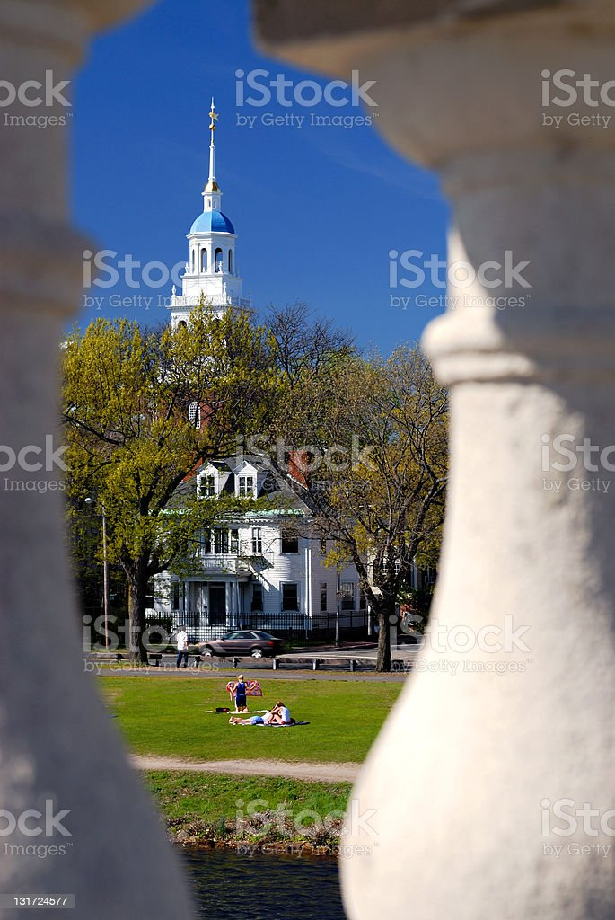 Spring comes to Harvard (Bridge and Dome series) royalty-free stock photo