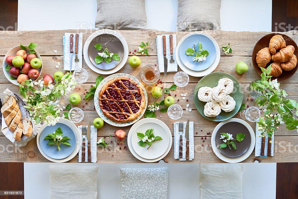 Spring dinner stock photo