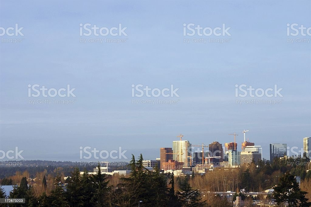 Spring Downtown Bellevue Construction royalty-free stock photo