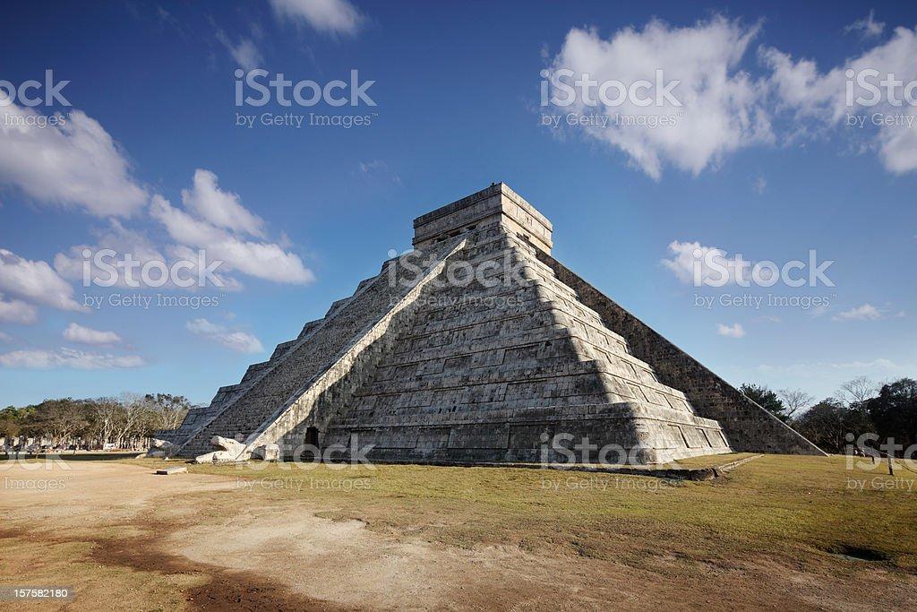 Spring Equinox at Chichenitza pyramid stock photo