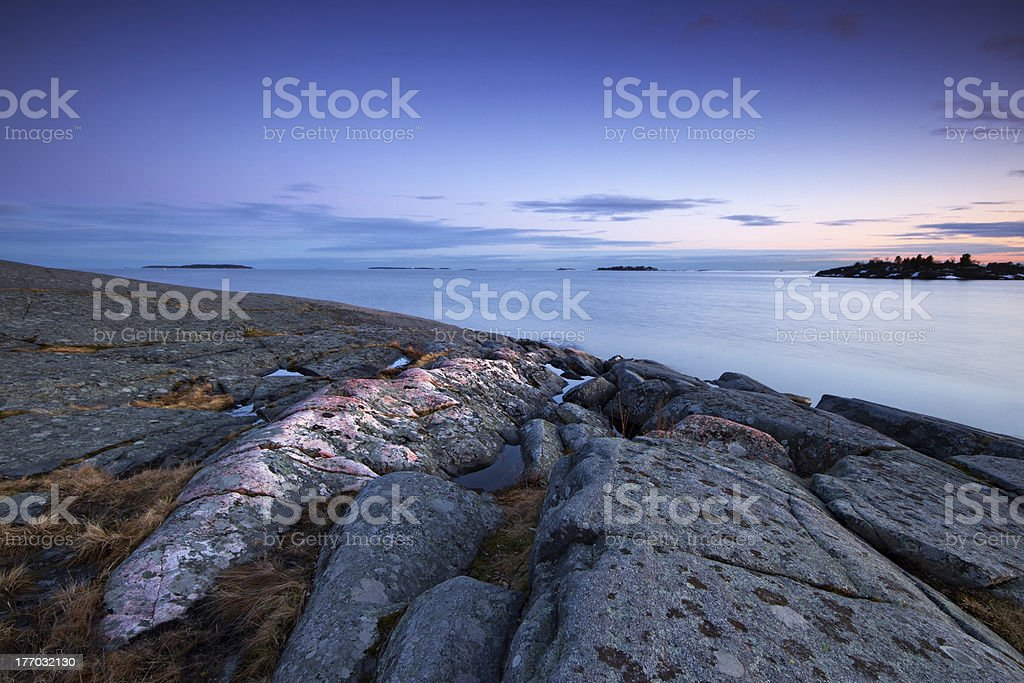 Spring evening seascape royalty-free stock photo