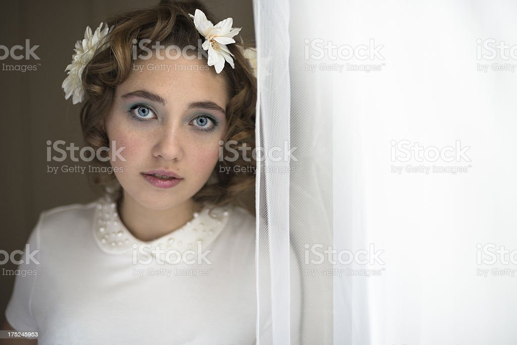 Spring fashion for young woman, horizontal. royalty-free stock photo