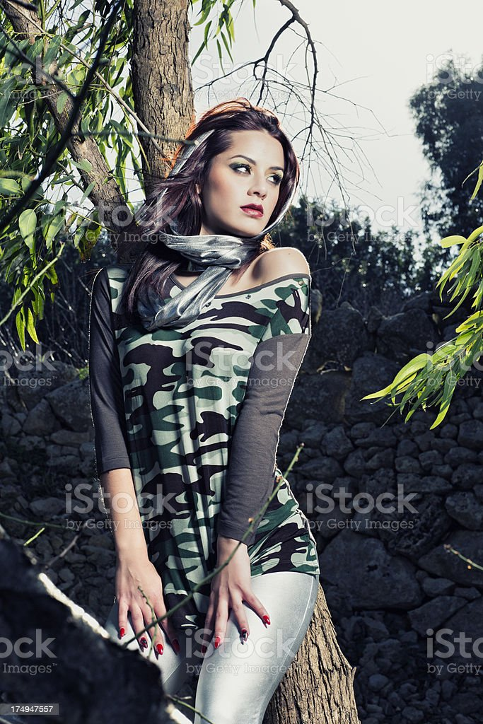 Spring Fashion Outdoors royalty-free stock photo