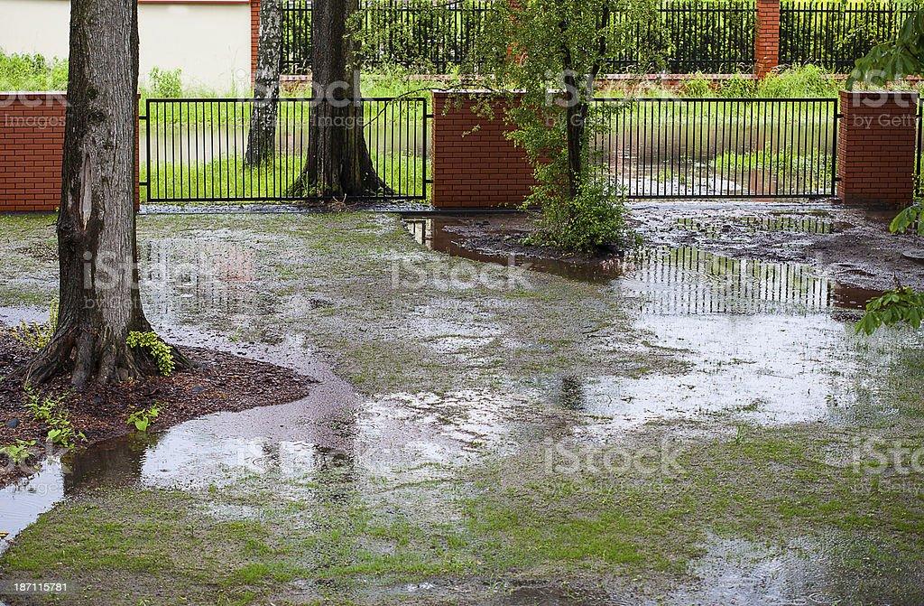 Spring flood royalty-free stock photo