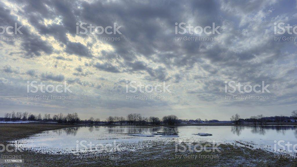 Spring Floods stock photo