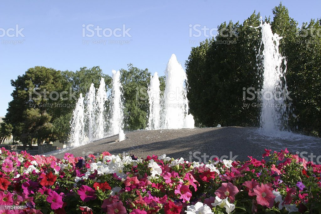 Spring Fountains royalty-free stock photo