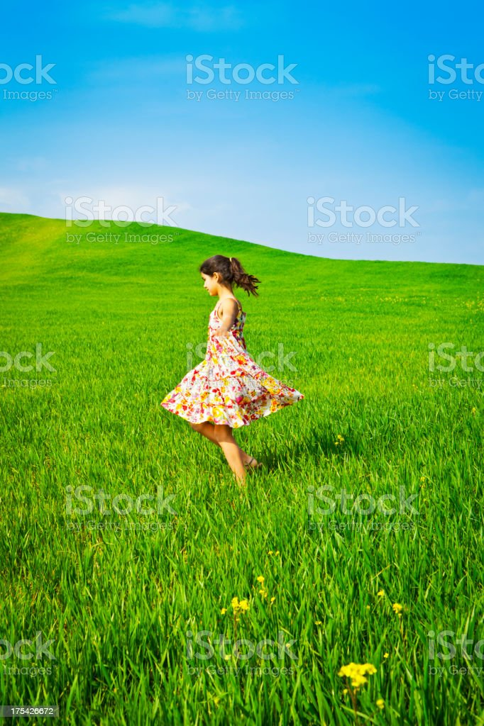 Spring fun in Tuscany royalty-free stock photo
