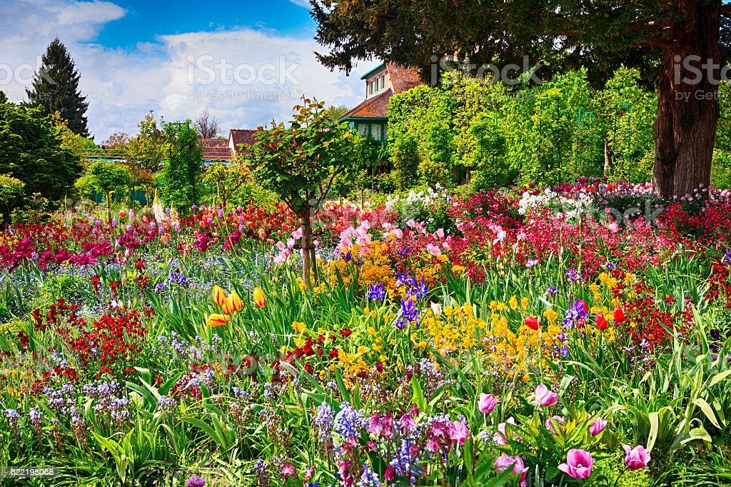 Spring garden, Giverny, France stock photo