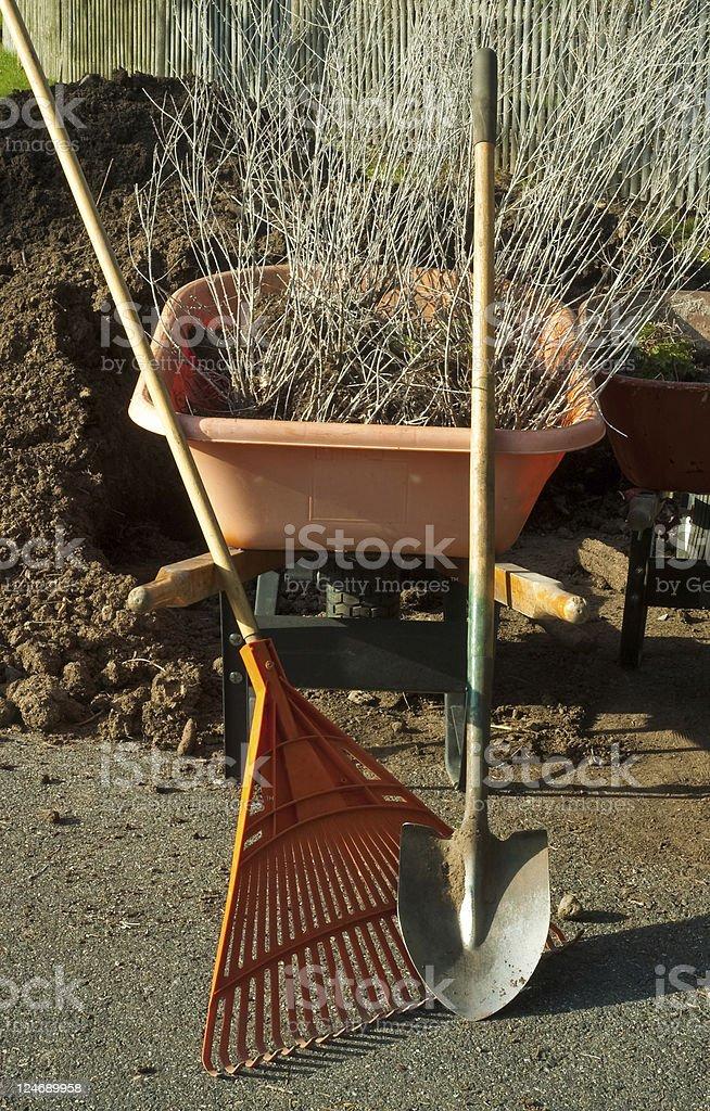 Spring Garden Tools stock photo