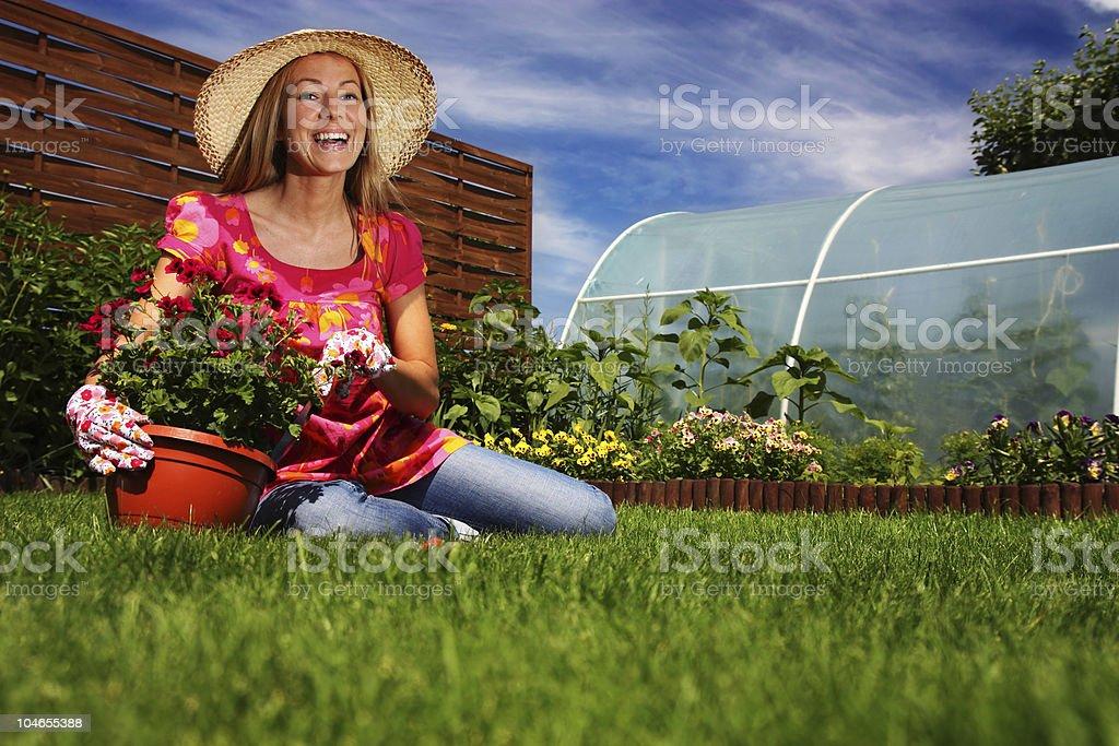 Spring gardening royalty-free stock photo