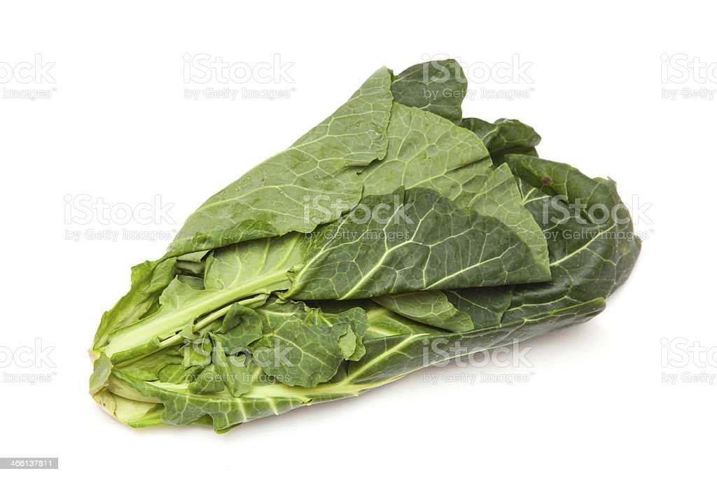 Spring Greens isolated on a white studio background. stock photo