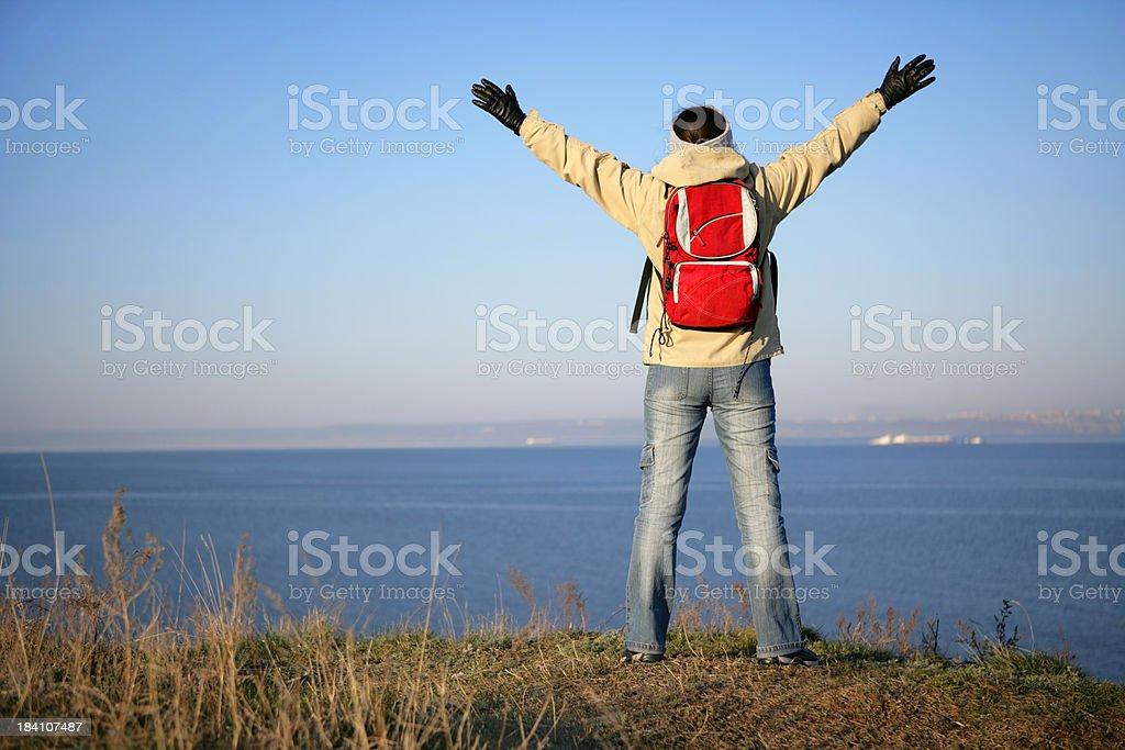 Spring hiker royalty-free stock photo