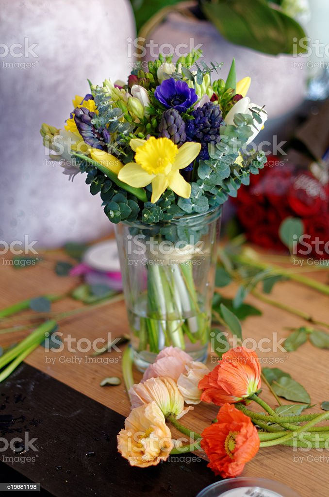 Spring in a beautiful bouquet royalty-free stock photo