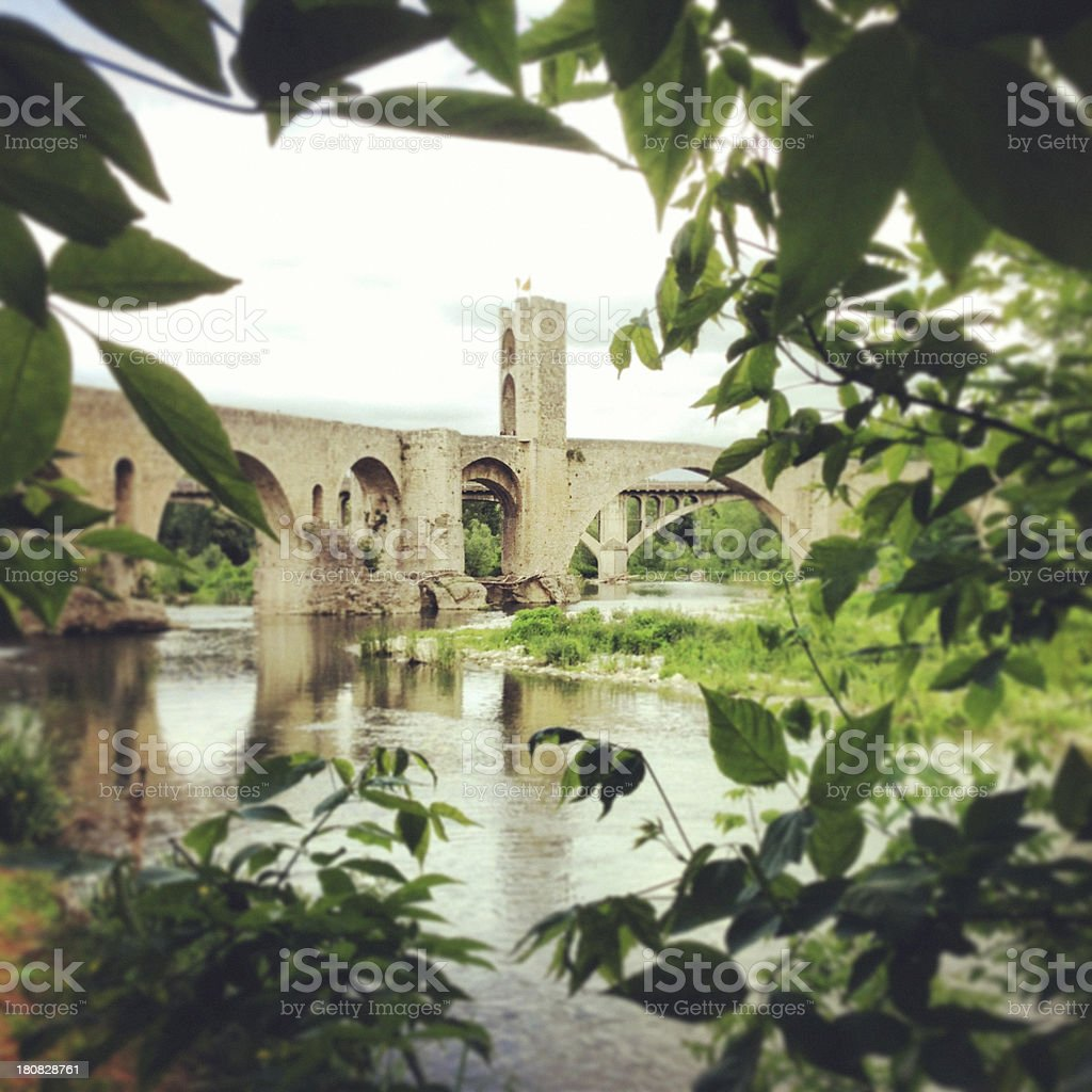 Spring in Besalu stock photo