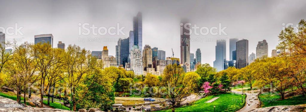 Spring in Central Park, New York City stock photo