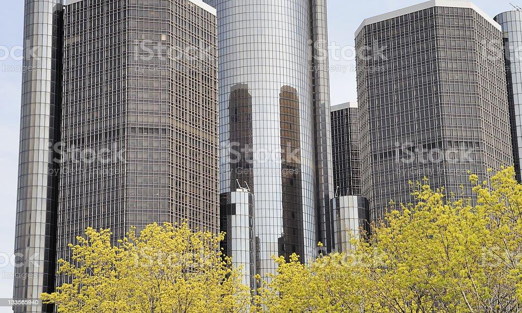 Spring in Detroit stock photo