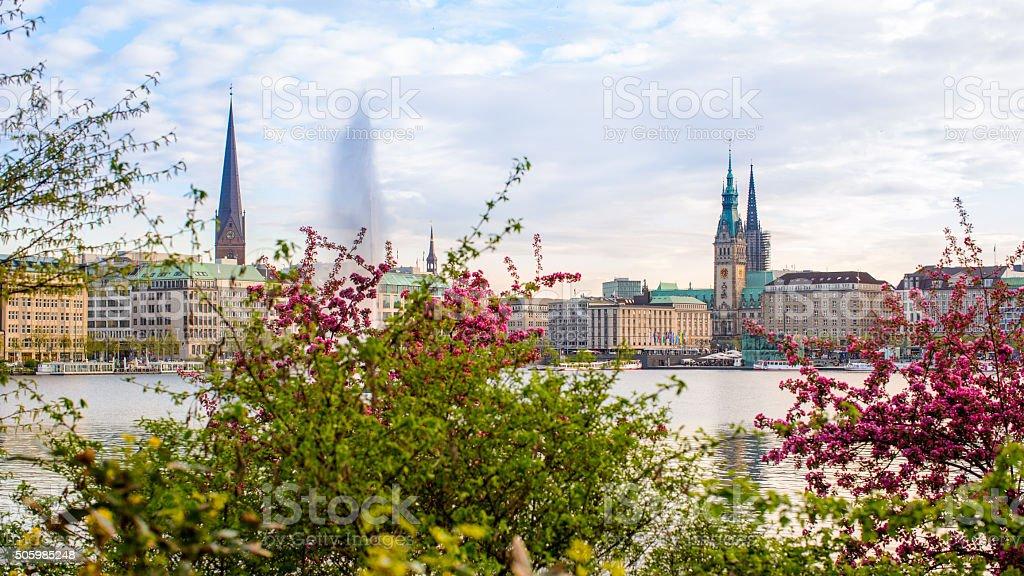 Spring in Hamburg stock photo