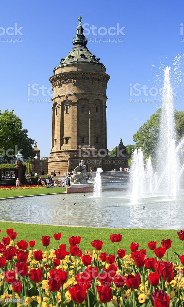 Spring in Mannheim stock photo