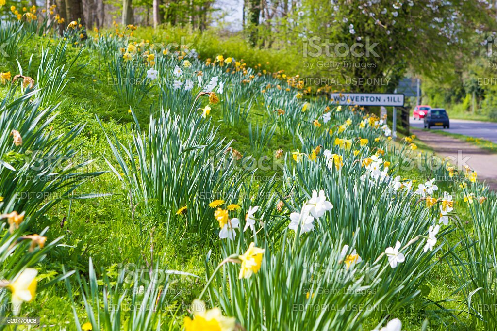 Spring in Milton Keynes, England stock photo