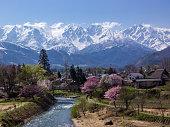 Spring in mountain village