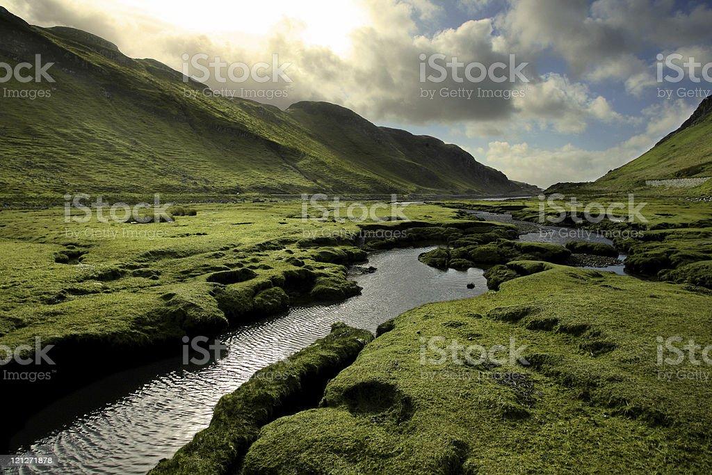 Spring in Scotland Valley stock photo
