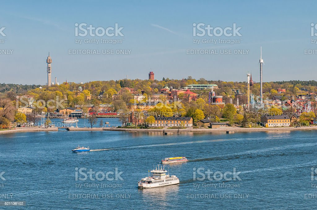 Spring in Stockholm, Sweden stock photo