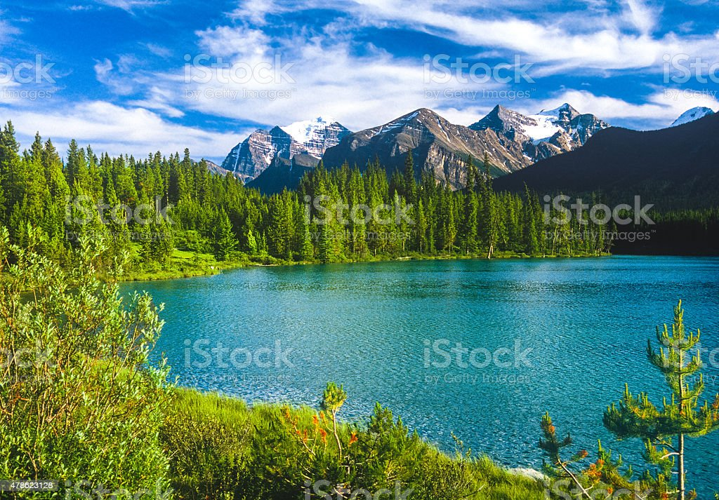 Spring in the Canadian Rockies, Banff NP stock photo