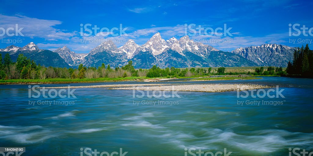 Spring In The Grand Teton National Park royalty-free stock photo