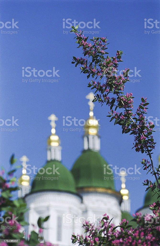 Spring in the Kremlin. Astrakhan, Russia. stock photo