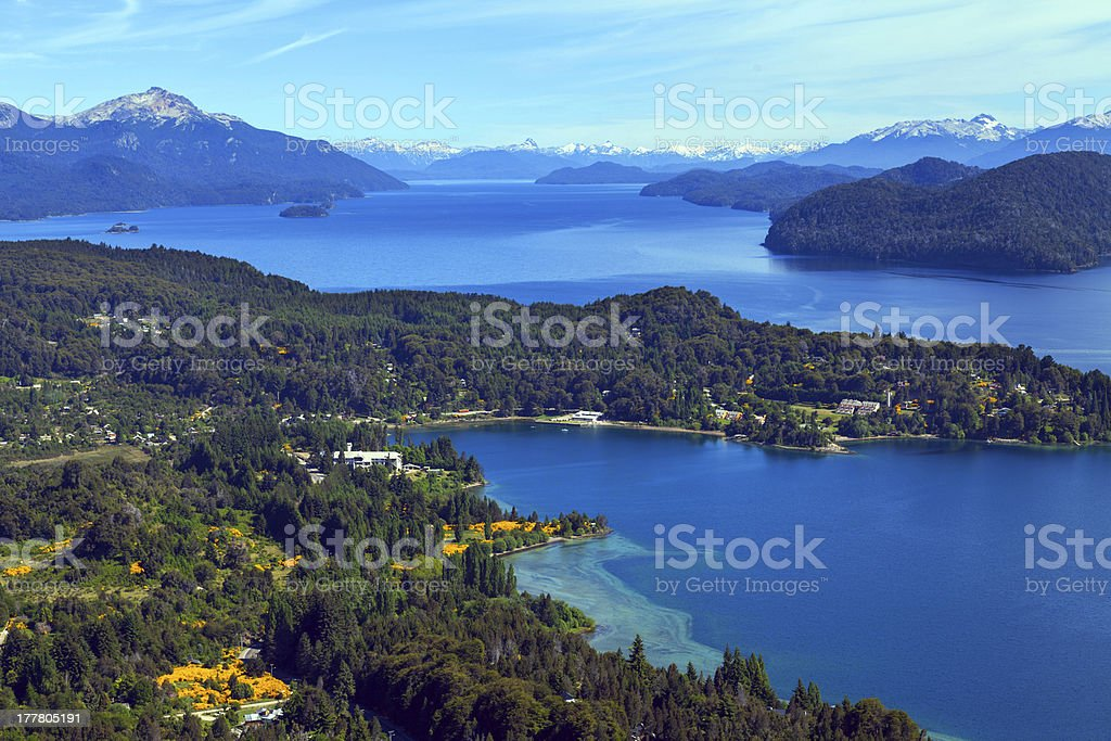 Spring in the mountains of Patagonia royalty-free stock photo
