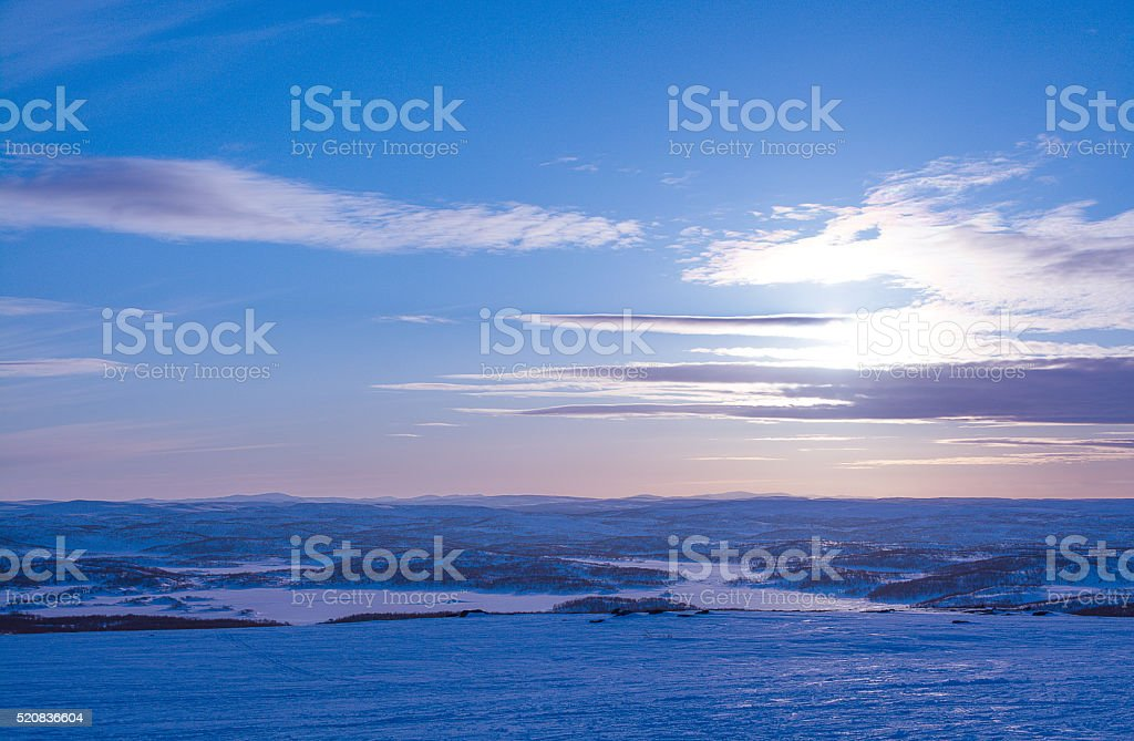 Spring in tundra. Polar region. Murmansk region stock photo