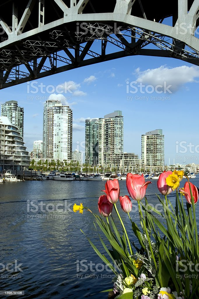 Spring in Vancouver royalty-free stock photo
