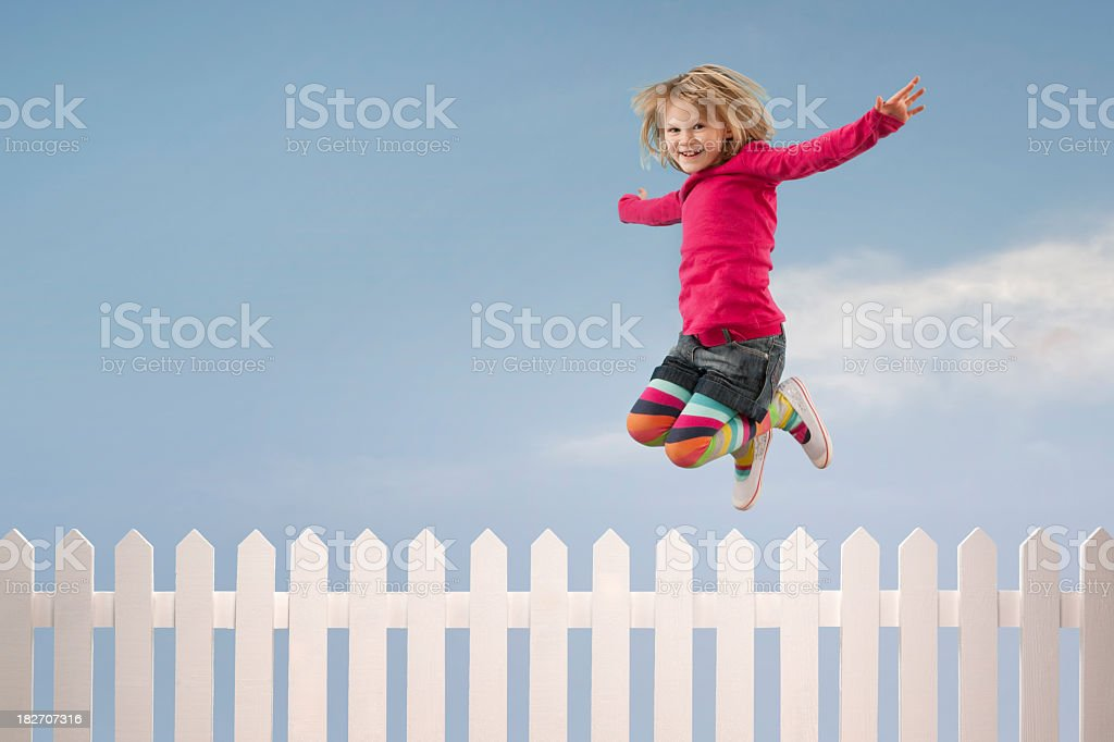Spring in your step royalty-free stock photo