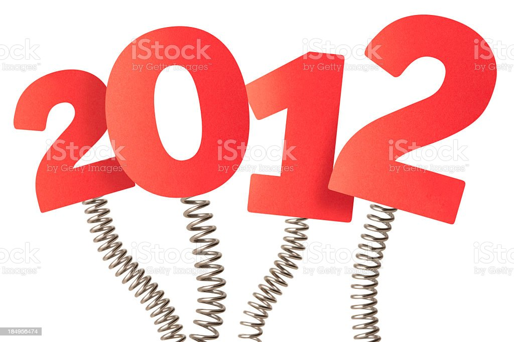 Spring into the New Year 2012 royalty-free stock photo
