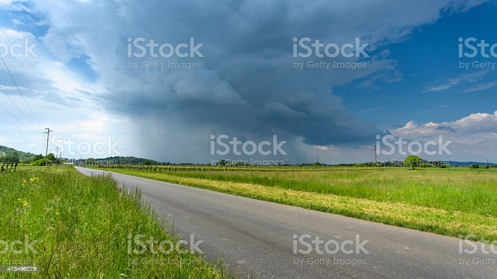 Spring is opening storm season stock photo