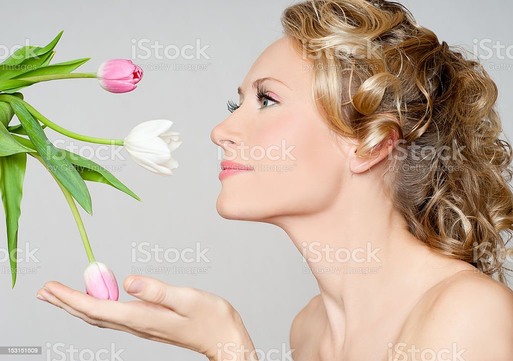 Spring lady royalty-free stock photo