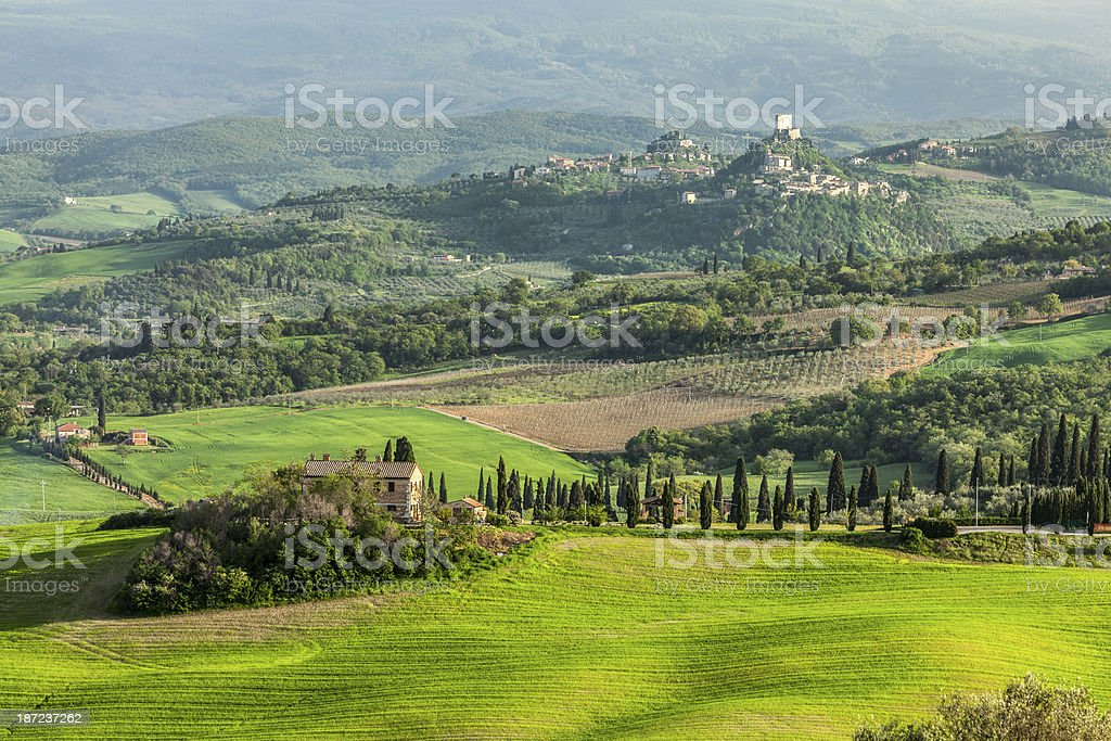 Spring Landscape in Tuscany, Italy royalty-free stock photo