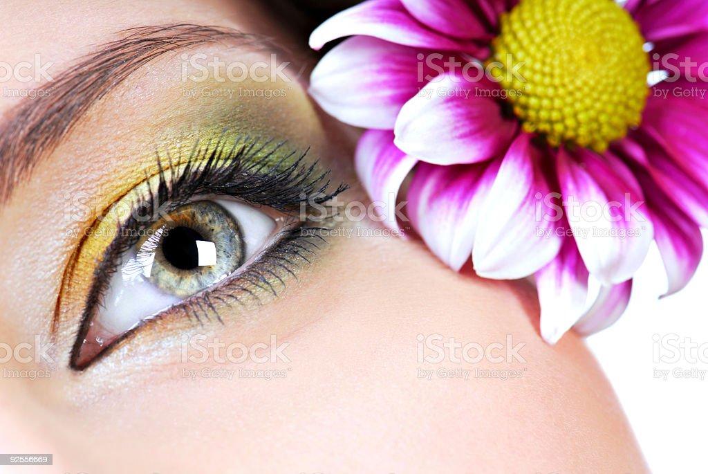 Spring make-up stock photo