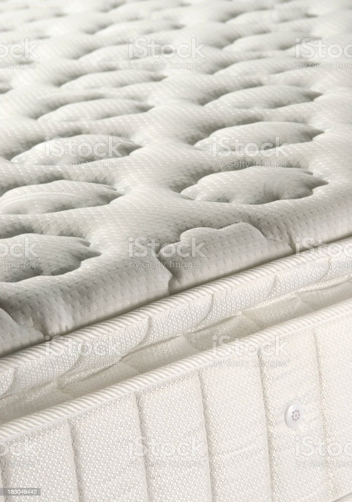 Spring mattress with flower patterns on royalty-free stock photo