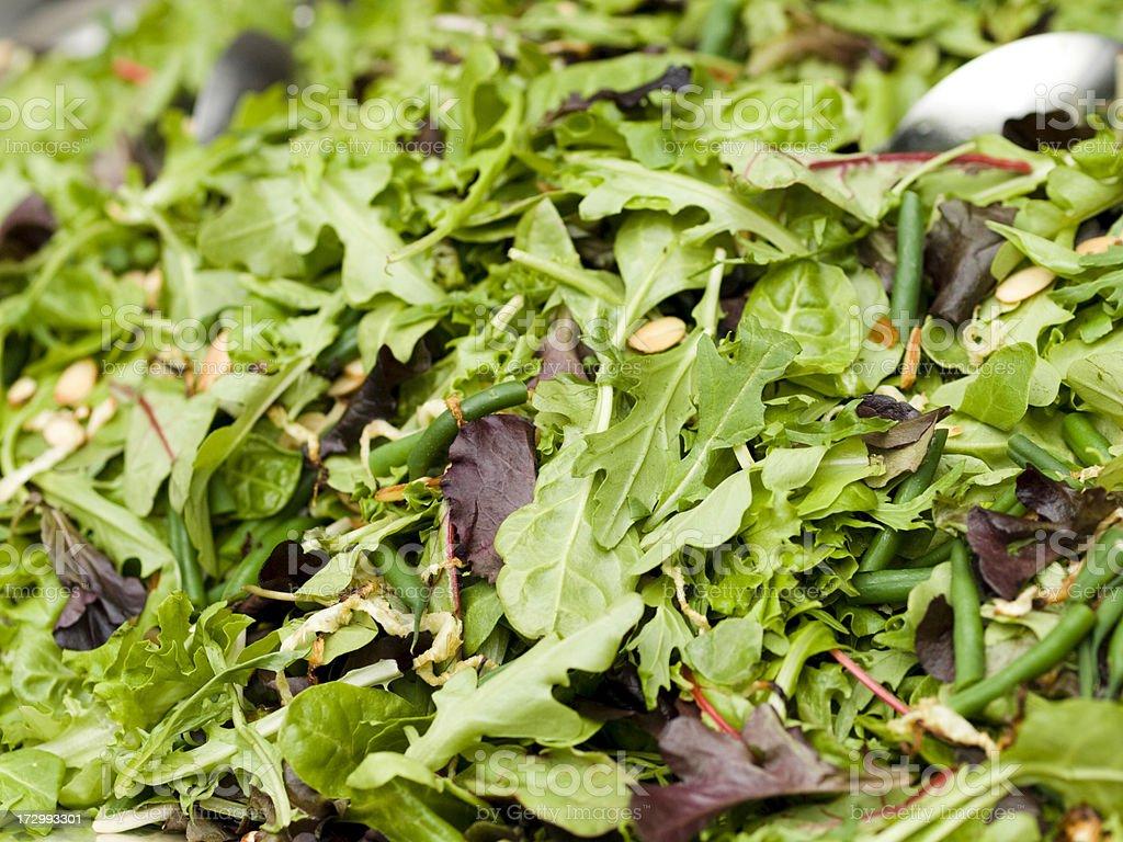 Spring Mix Leaf Salad stock photo