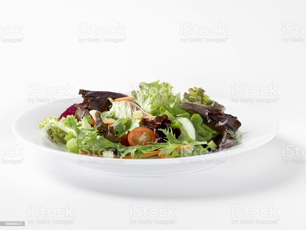 Spring Mix Salad stock photo