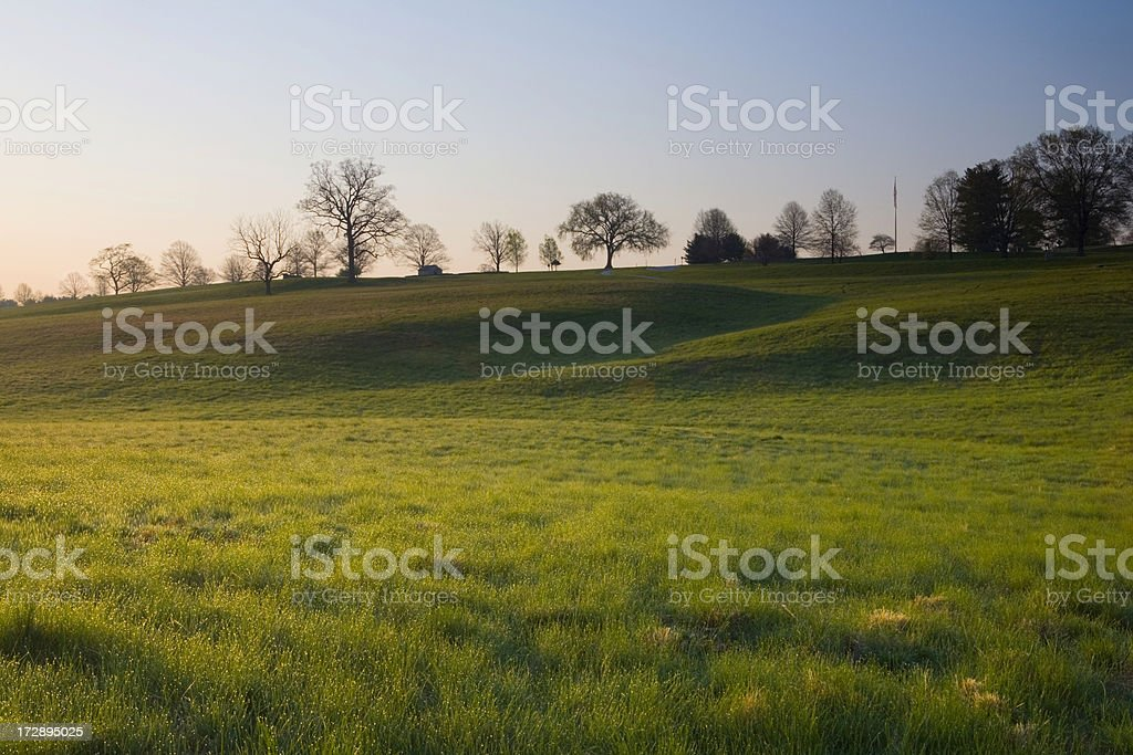 Spring Morning at  Valley Forge Park stock photo