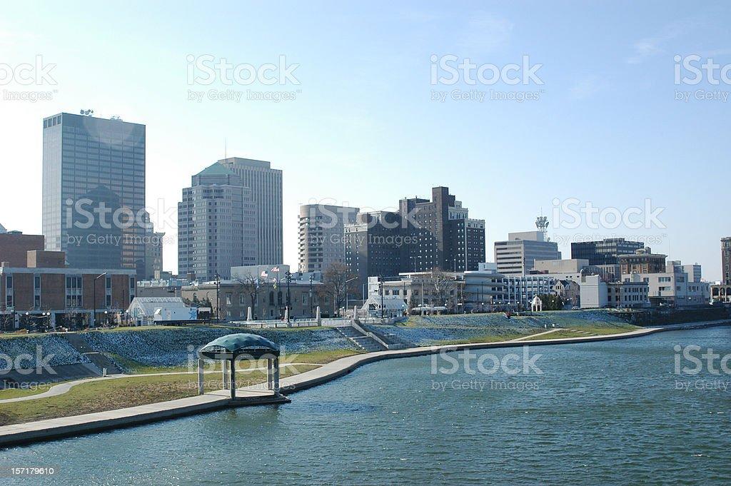 Spring Morning Dayton Ohio Cityscape Skyline royalty-free stock photo