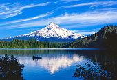 Spring morning with the reflection of  Mt. Hood, OR