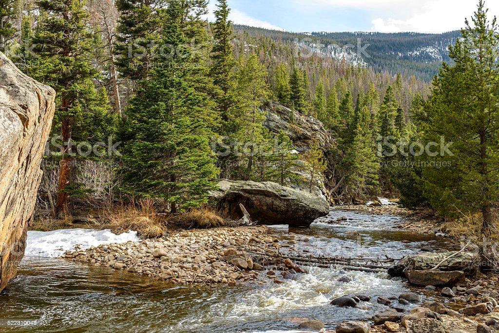 Spring Mountain Creek stock photo