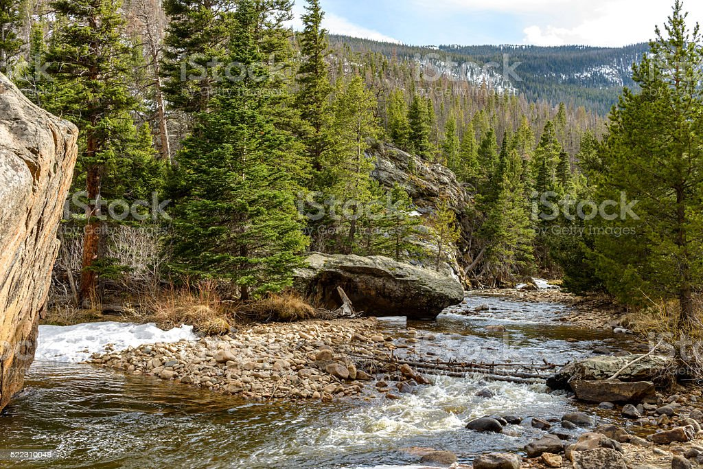 Spring Mountain Creek stock photo