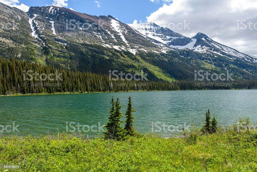 Spring Mountain Lake stock photo