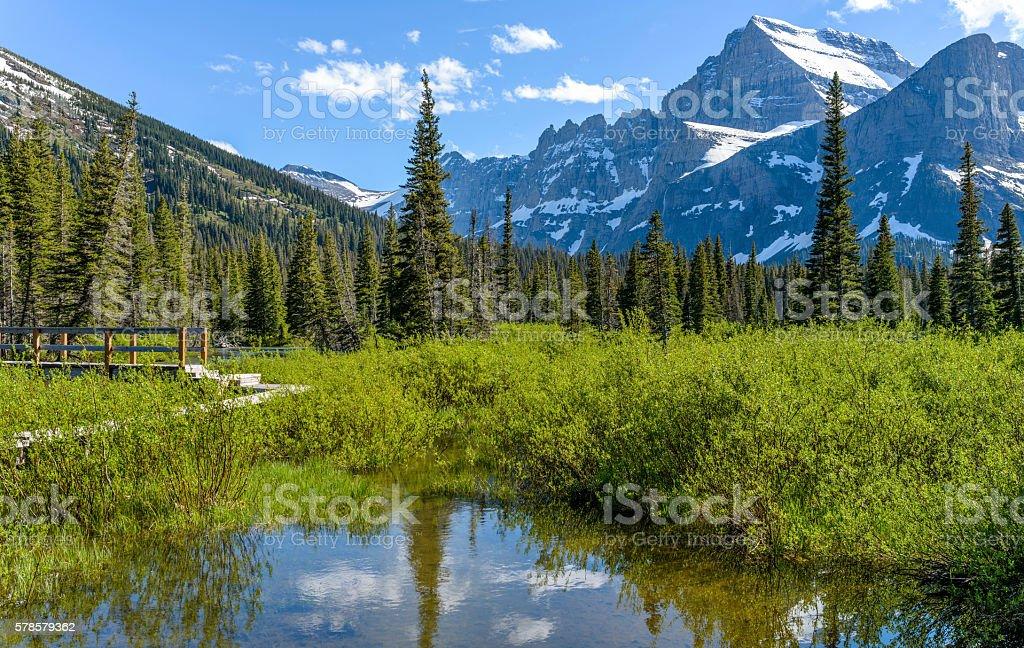 Spring Mountain stock photo