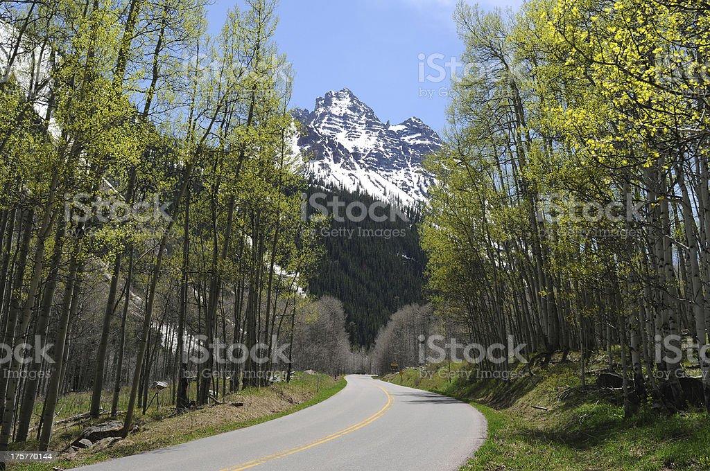 Spring Mountain Road stock photo
